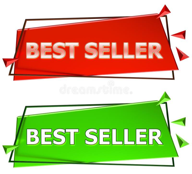 Sinal do melhor vendedor ilustração stock