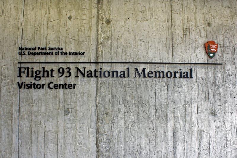Sinal do memorial do voo 93 fotografia de stock royalty free