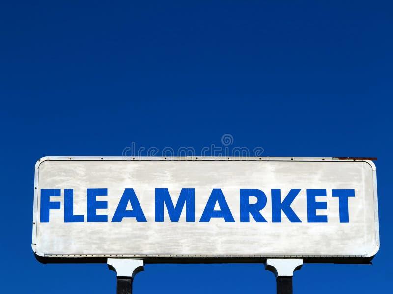Sinal do mercado de pulga fotografia de stock royalty free