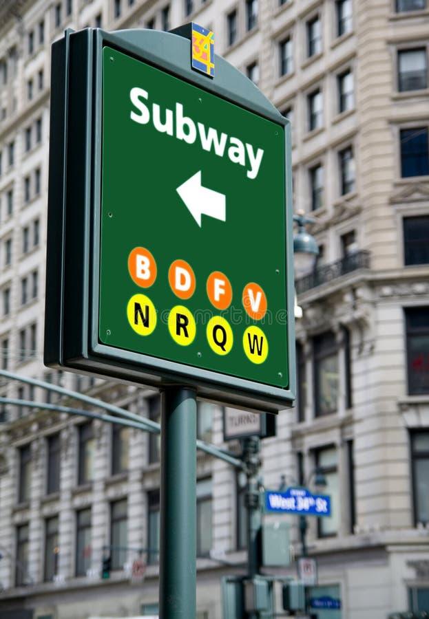 Sinal do metro imagens de stock royalty free