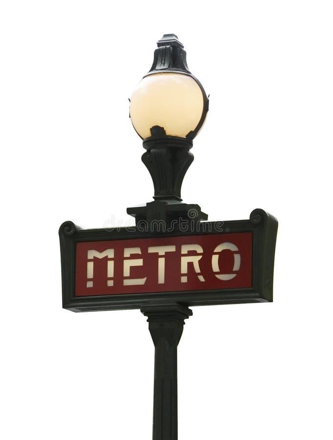 Sinal do metro de Paris fotos de stock