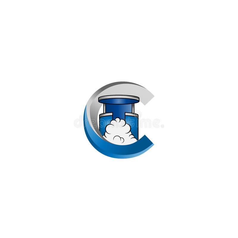 Sinal do molde do projeto do logotipo do vetor de Cryotherapy A ilustração da câmara de Cryo pode usar-se igualmente como o logot ilustração do vetor