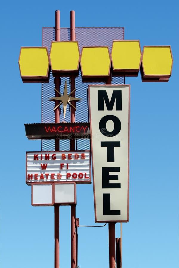 Sinal do motel foto de stock