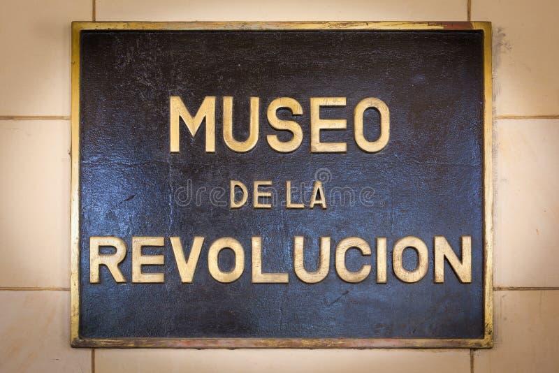 Sinal do museu da revolução imagem de stock