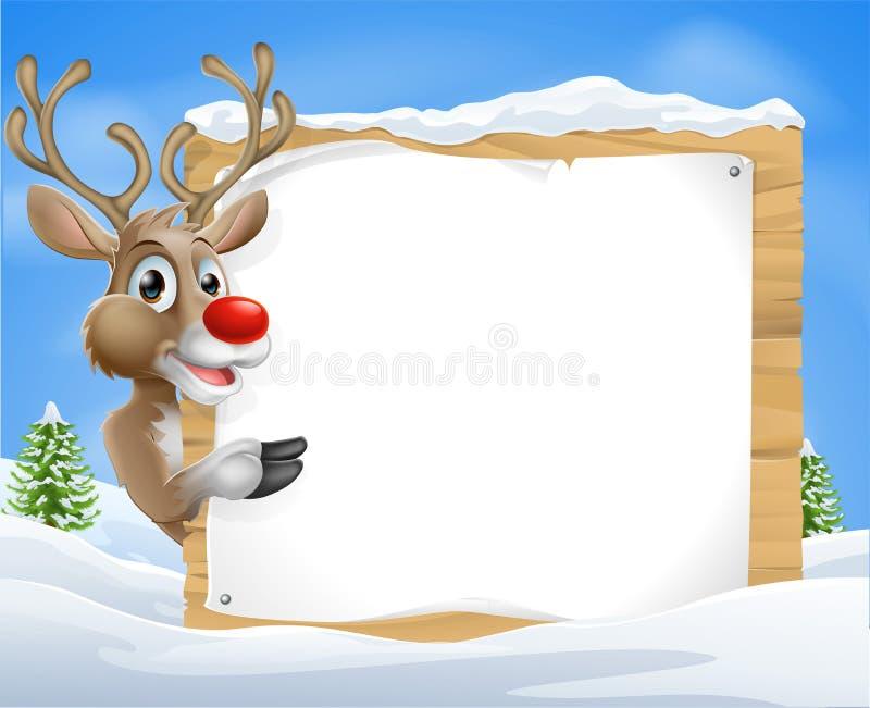 Sinal do Natal da rena dos desenhos animados