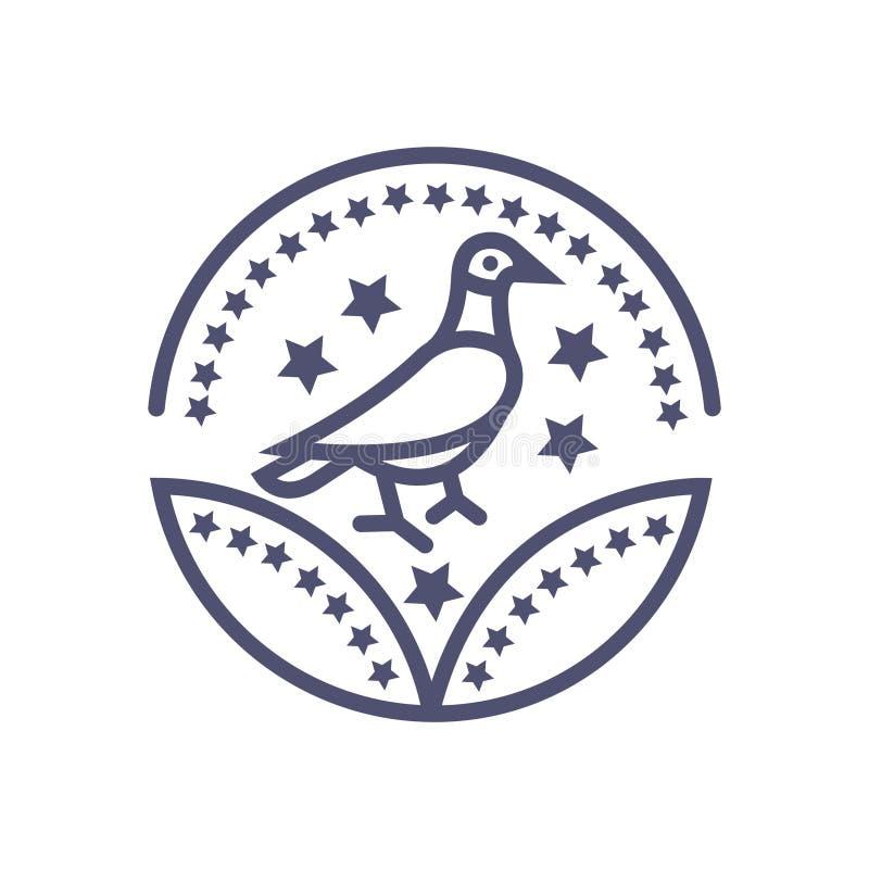 Sinal do pássaro do vetor do ícone da concessão do pássaro para seus Web site ou apps móveis ilustração stock