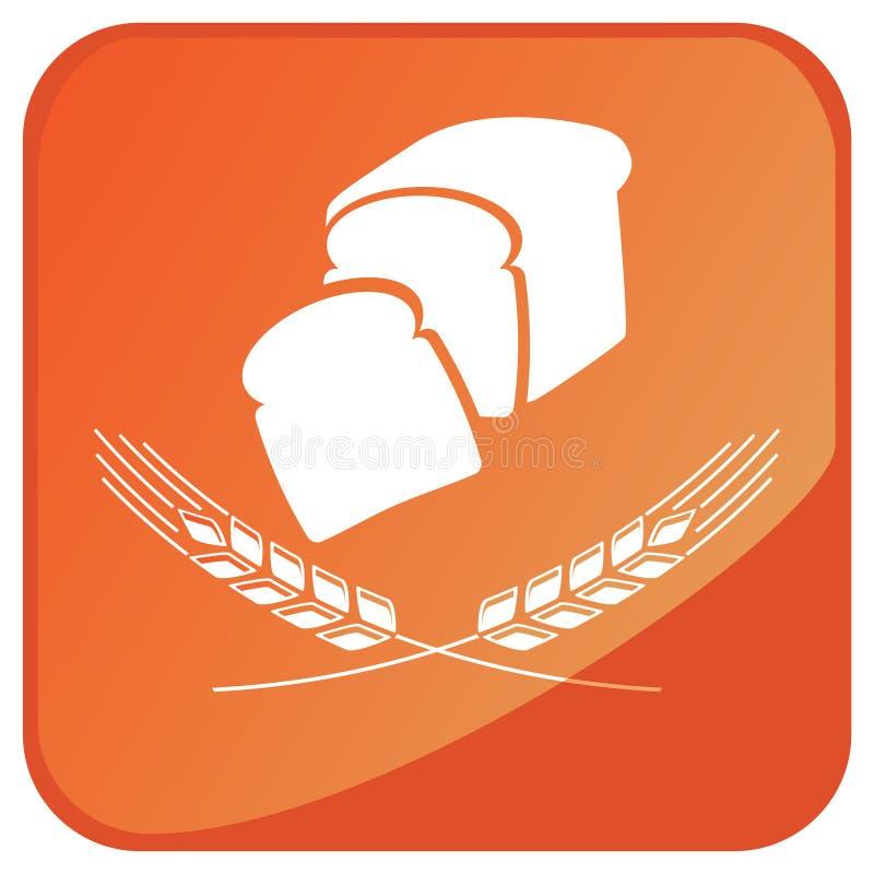 Sinal do pão do trigo ilustração royalty free