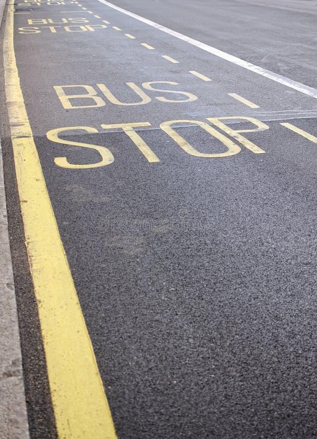 Sinal do paragem do autocarro imagem de stock