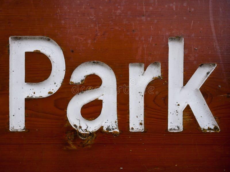 Sinal Do Parque Fotos de Stock