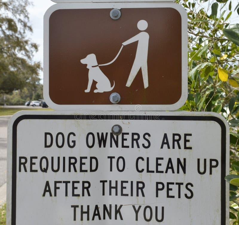 Sinal do parque do cão foto de stock royalty free
