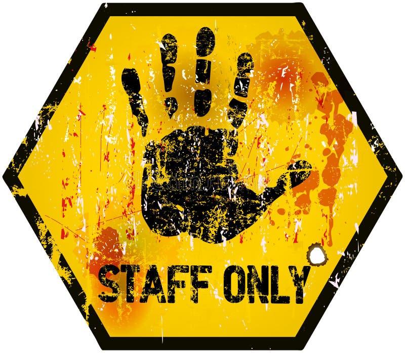 sinal do pessoal somente ilustração stock