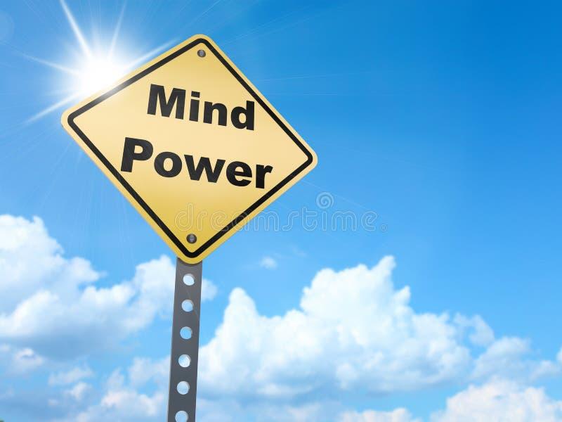 Sinal do poder da mente ilustração royalty free