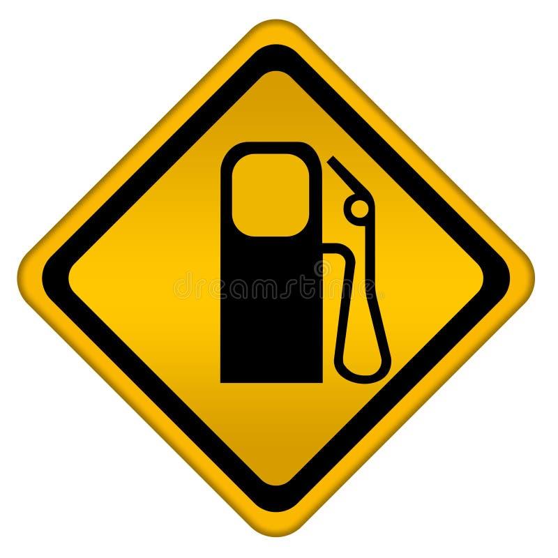 Sinal do posto de gasolina ilustração royalty free