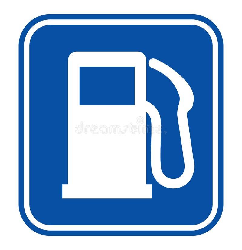 Sinal do posto de gasolina ilustração stock
