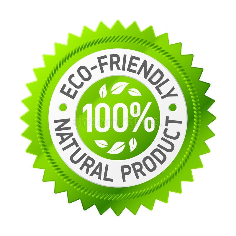 Sinal do produto eco-friendly. Vetor. ilustração stock