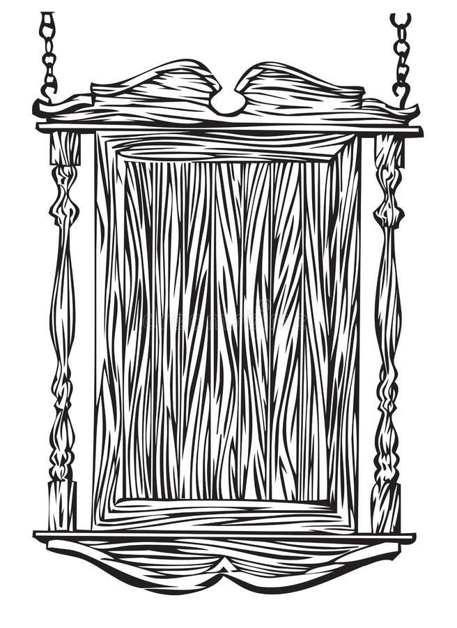 Sinal do pub do olde do YE ilustração do vetor