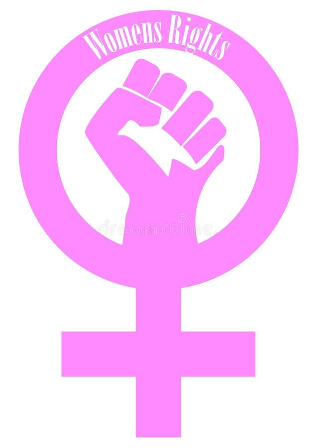 Sinal do punho dos direitos das mulheres ilustração stock