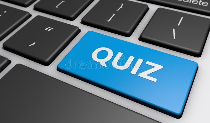 Sinal do questionário no teclado de computador ilustração do vetor