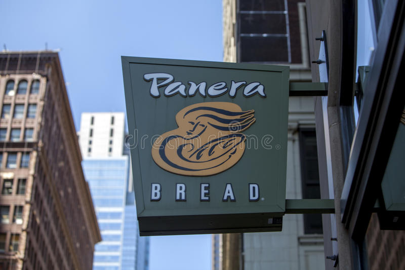 Sinal do restaurante do pão de Panera fotos de stock