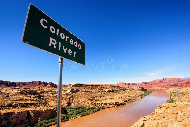 Sinal do Rio Colorado foto de stock royalty free