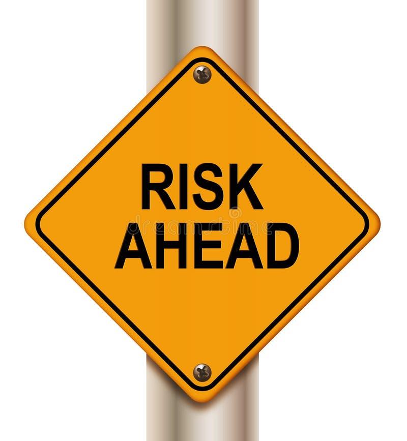 Sinal do risco adiante ilustração do vetor