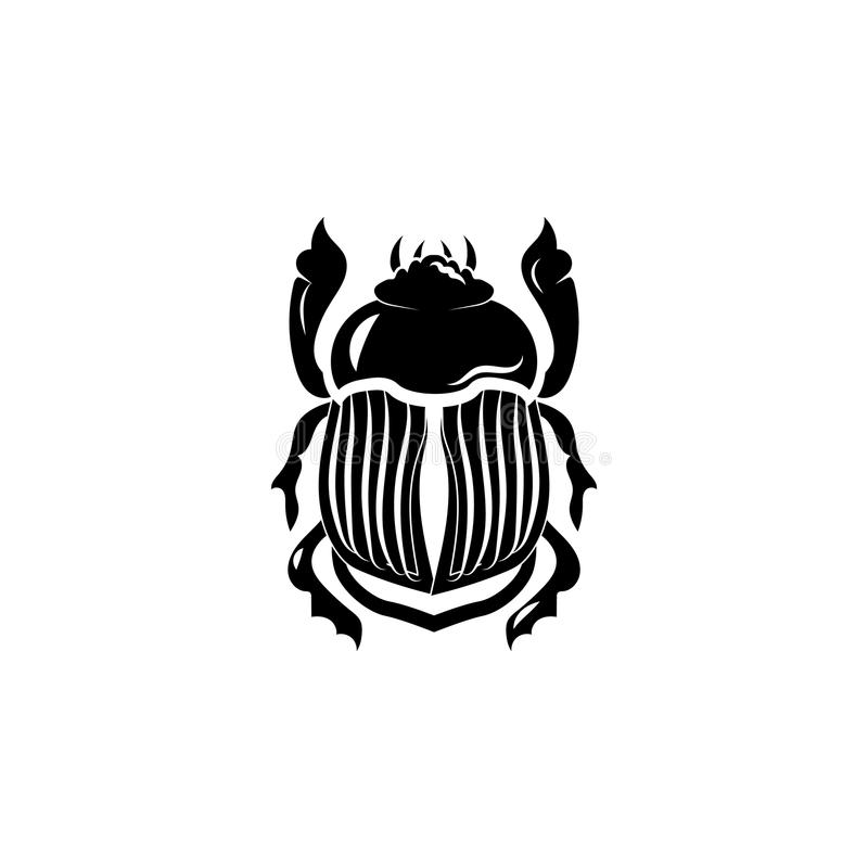 Sinal do símbolo do ícone do escaravelho ilustração do vetor