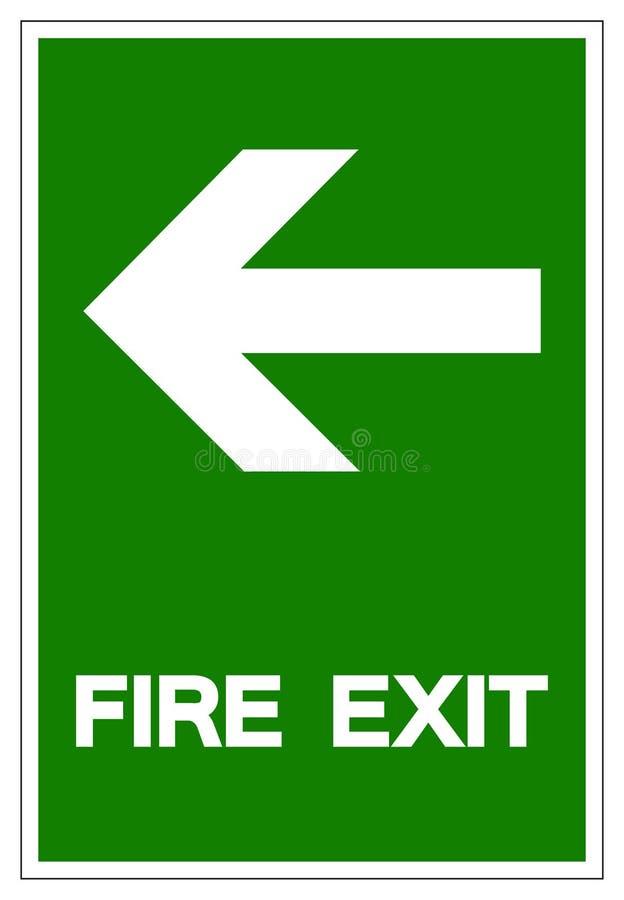 Sinal do símbolo da saída de emergência, ilustração do vetor, isolado na etiqueta branca do fundo EPS10 ilustração do vetor