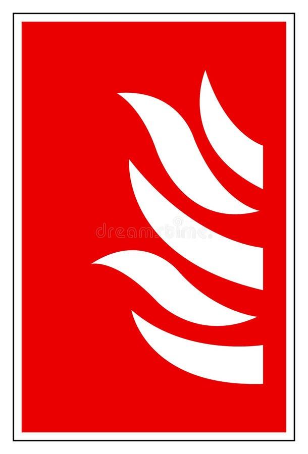 Sinal do símbolo de fogo, ilustração do vetor, isolado na etiqueta branca do fundo EPS10 ilustração stock