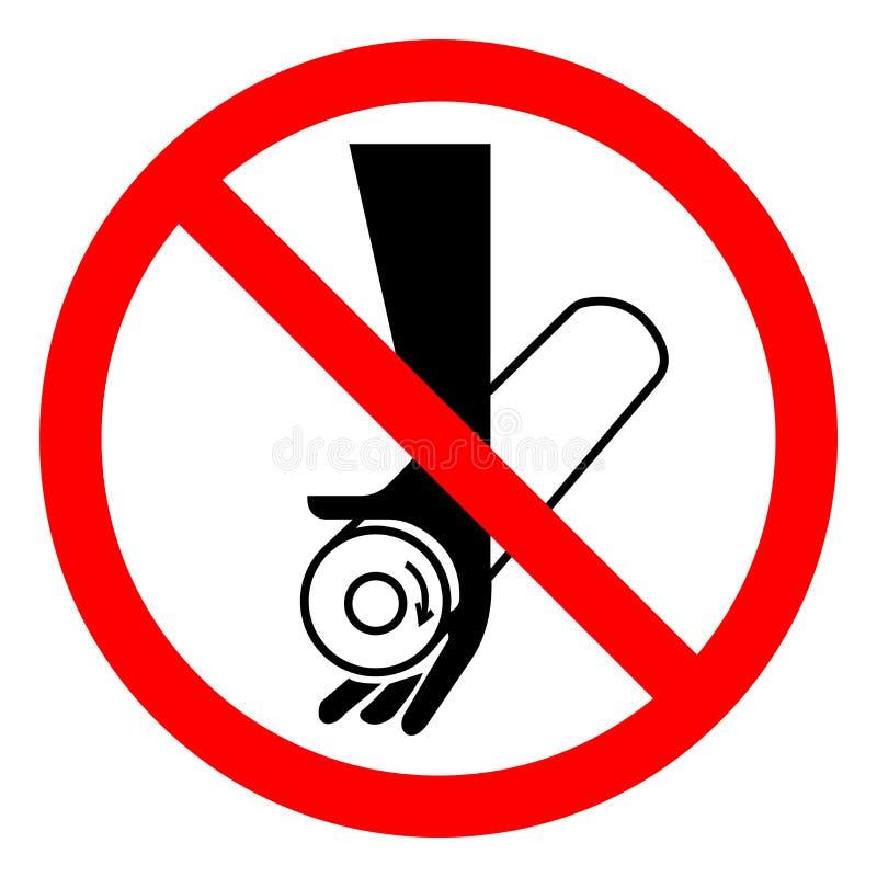 Sinal do símbolo do ponto de pitada do perigo de ferimento, ilustração do vetor, isolado na etiqueta branca do fundo EPS10 ilustração royalty free