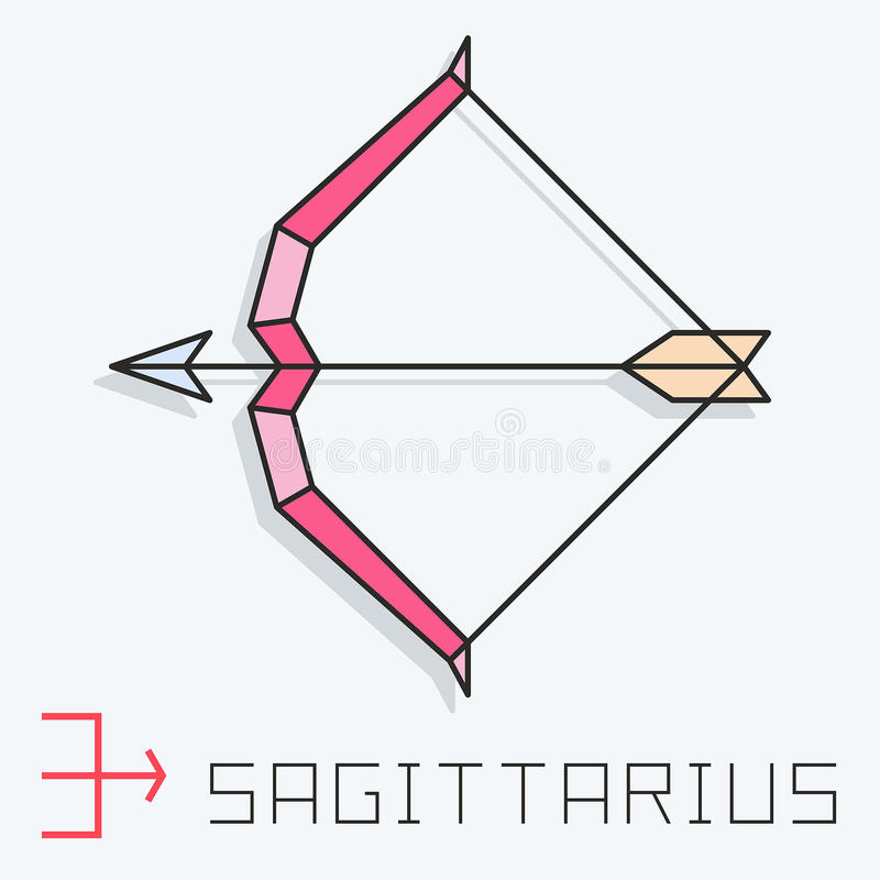 Sinal do Sagitário ilustração do vetor