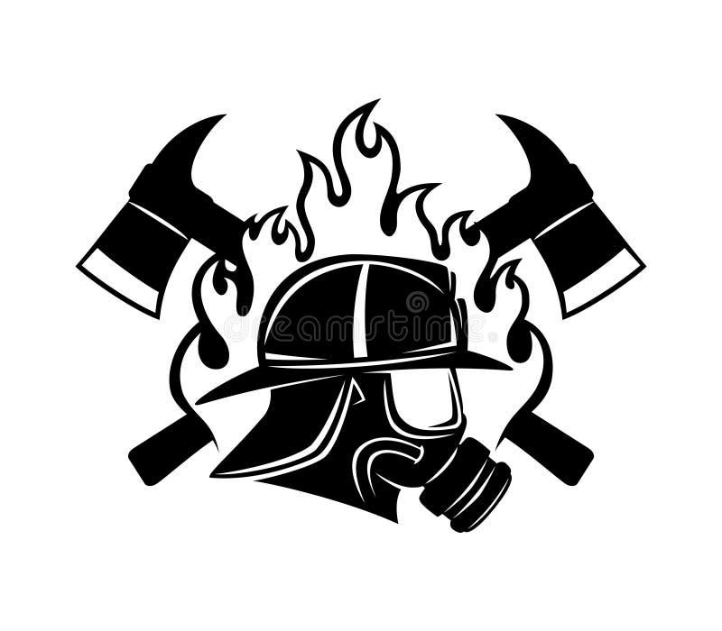 Sinal do sapador-bombeiro ilustração stock