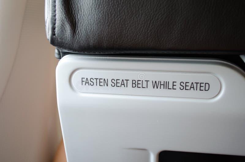 Sinal do Seatbelt imagens de stock royalty free