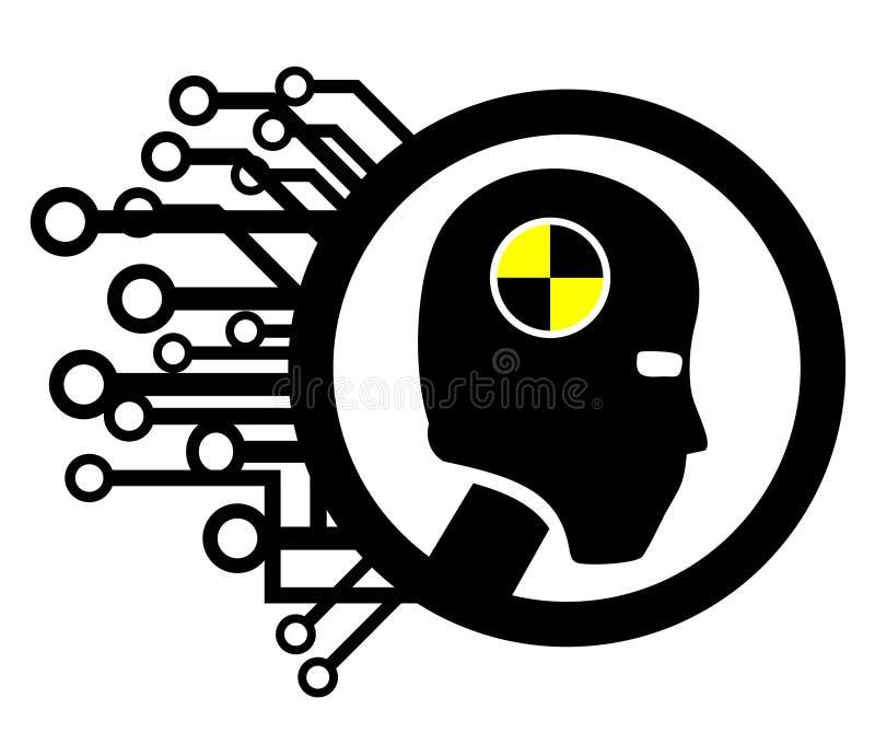 Sinal do ser humano da tecnologia da segurança ilustração stock