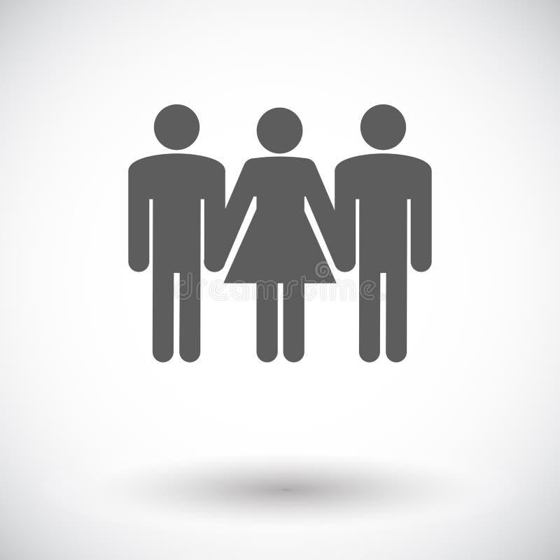 Sinal do sexo em grupo ilustração royalty free