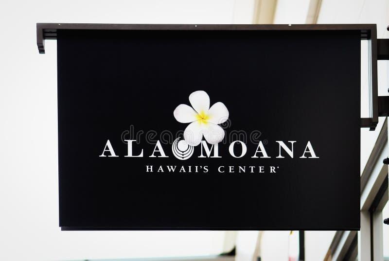 Sinal do shopping de Alá Moana fotos de stock