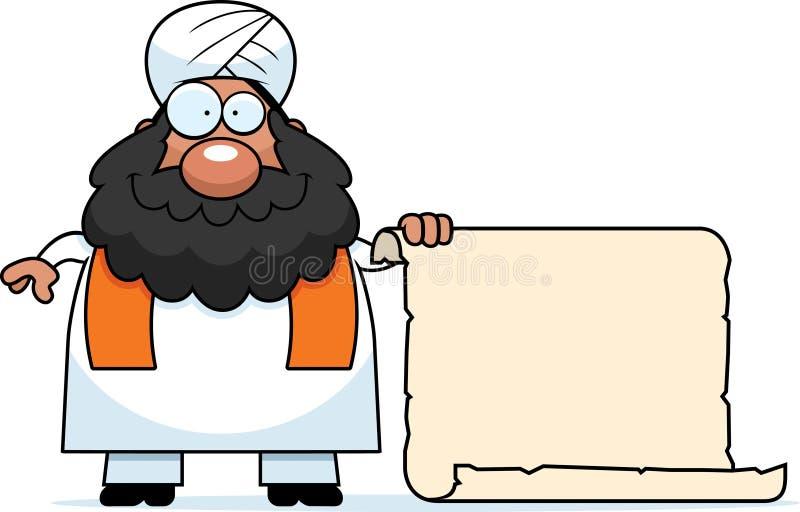 Sinal do sikh dos desenhos animados ilustração royalty free