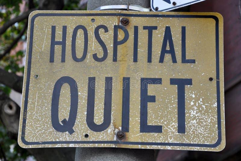 Sinal do silêncio do hospital imagens de stock