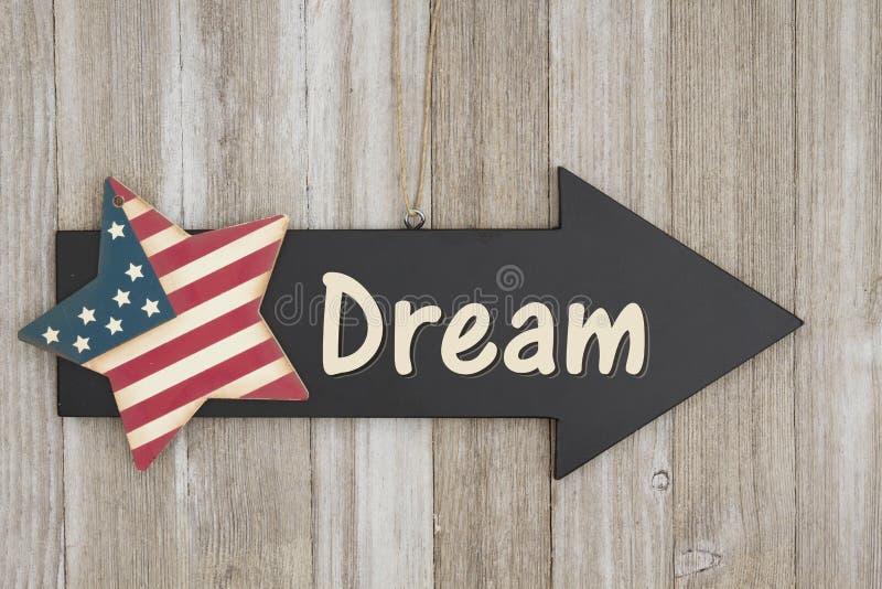 Sinal do sonho americano imagens de stock royalty free