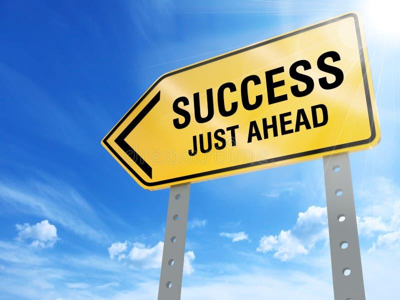 Sinal do sucesso apenas adiante ilustração do vetor