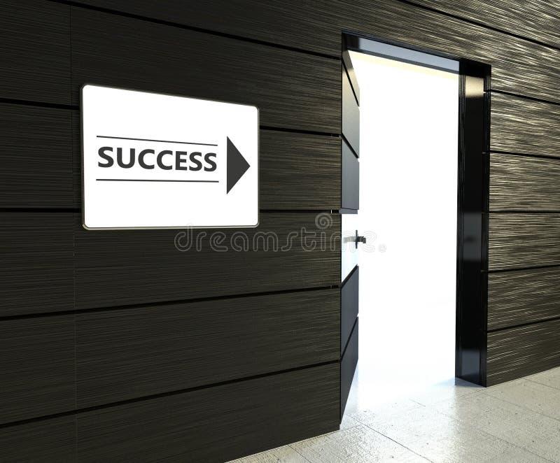 Sinal do sucesso, estar aberto do escritório imagens de stock royalty free