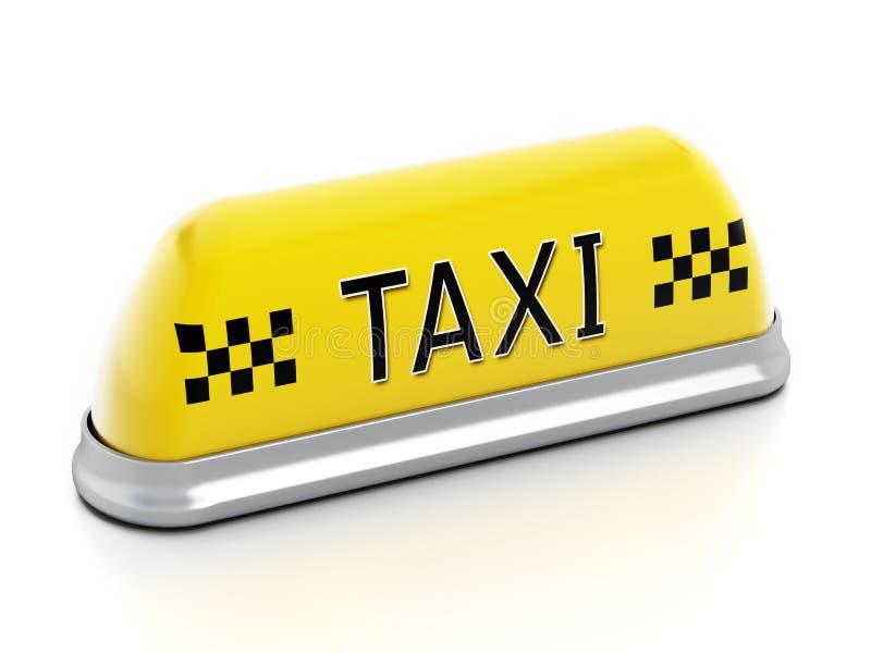 Sinal do táxi imagem de stock