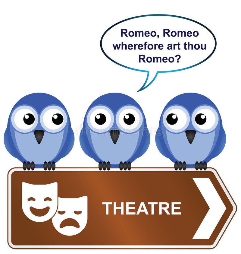 Sinal do teatro ilustração royalty free
