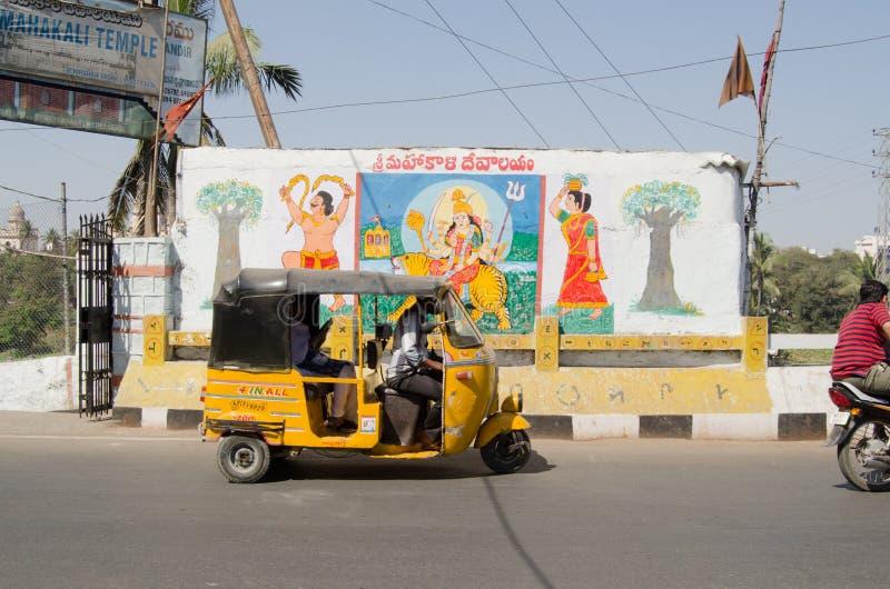 Sinal do templo de Hyderabad foto de stock royalty free
