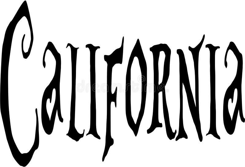 Sinal do texto de Califórnia ilustração stock