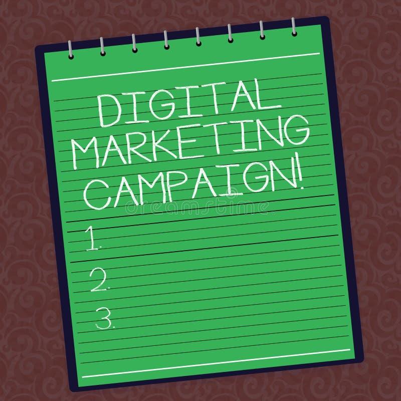 Sinal do texto que mostra a campanha de marketing de Digitas Esforço de mercado em linha da foto conceptual para anunciar a espir ilustração do vetor
