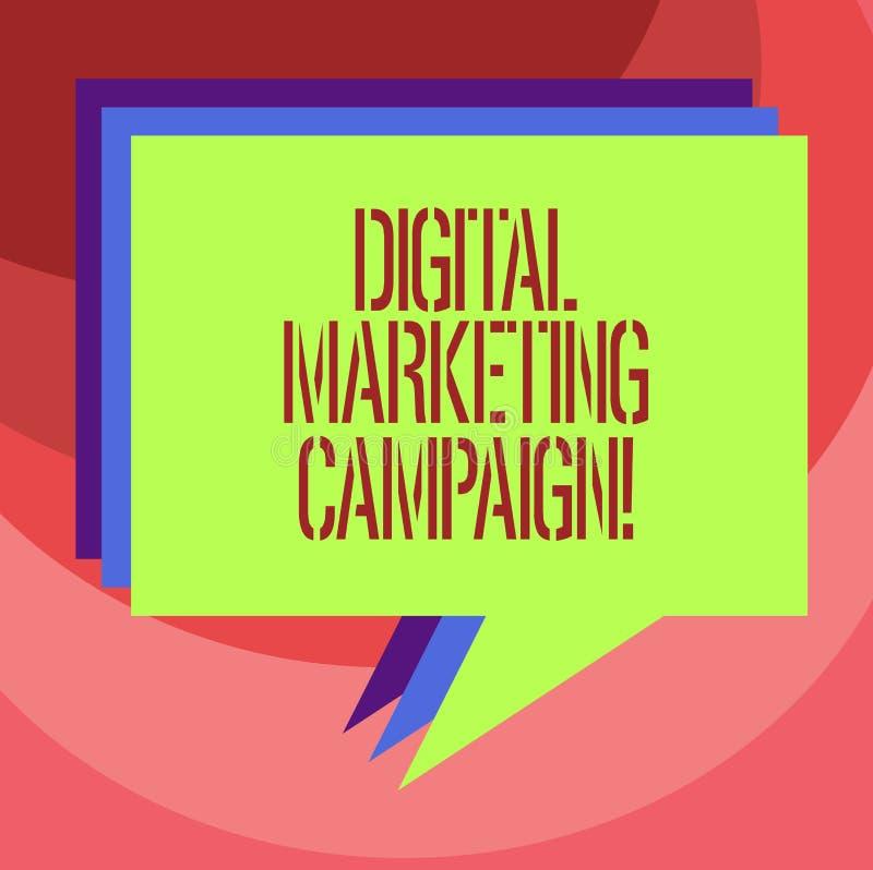 Sinal do texto que mostra a campanha de marketing de Digitas O esforço de mercado em linha da foto conceptual para anunciar o tip ilustração do vetor