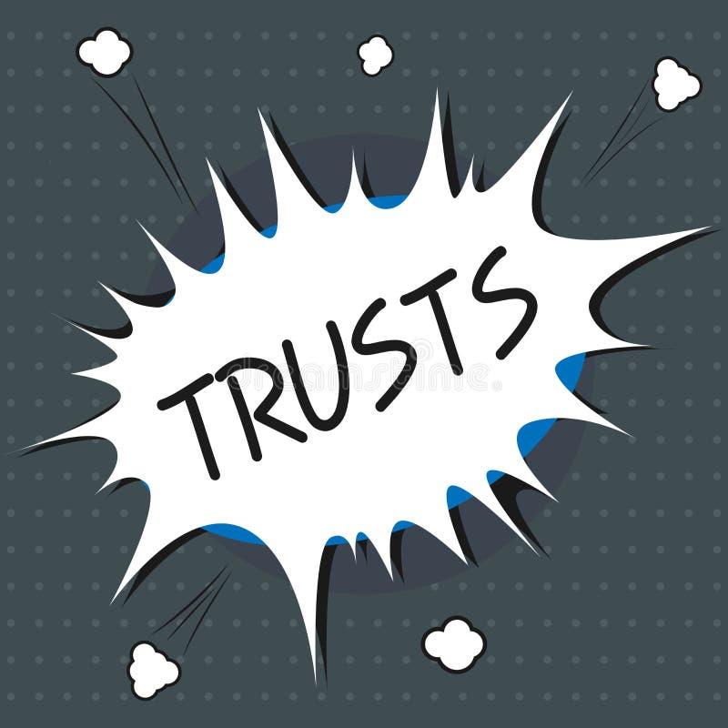 Sinal do texto que mostra confianças Opinião firme da foto conceptual na verdade da confiança ou capacidade de alguém ou de algo ilustração stock