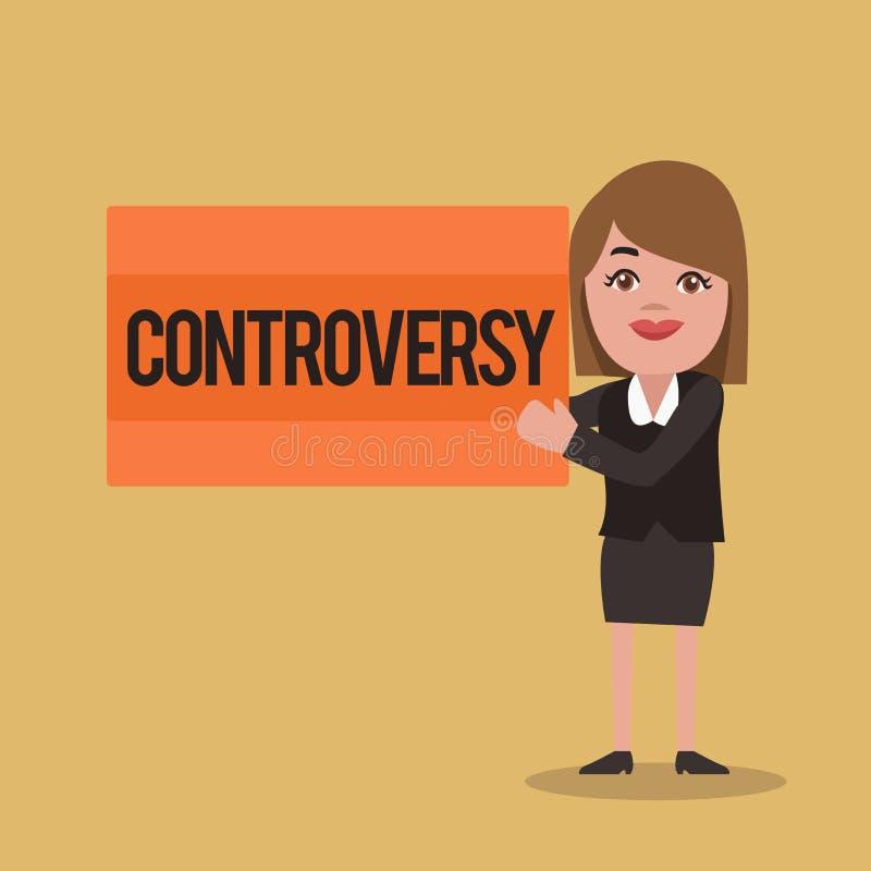 Sinal do texto que mostra a controvérsia Desacordo ou argumento conceptual da foto sobre algo importante para mostrar ilustração do vetor
