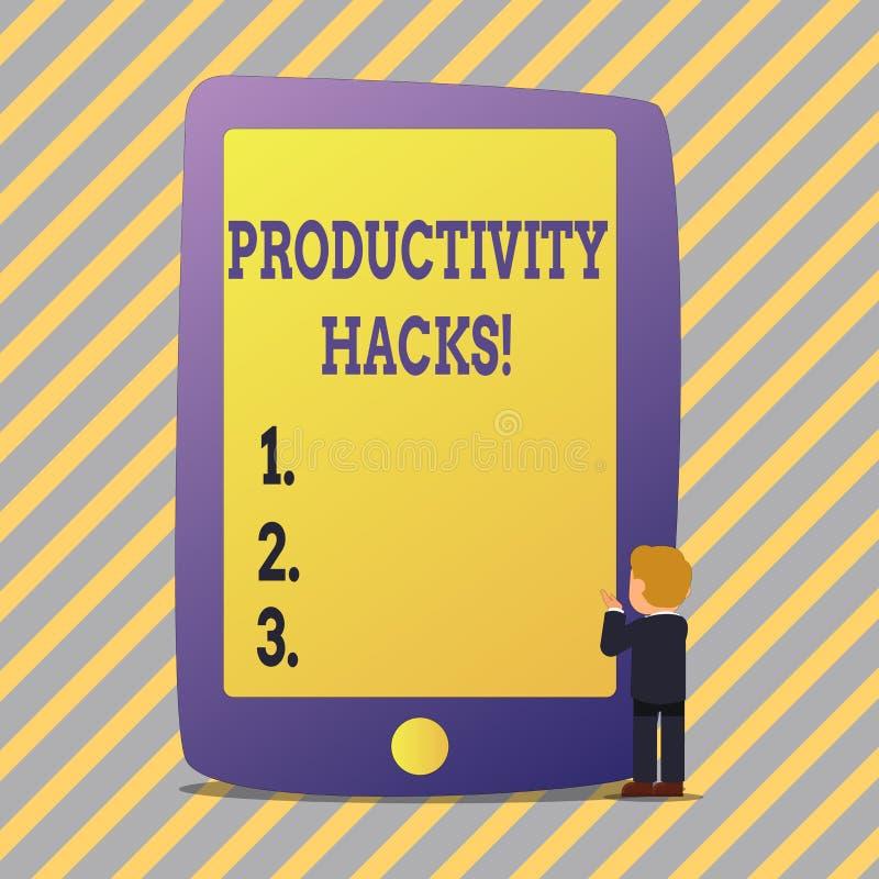 Sinal do texto que mostra cortes da produtividade A foto conceptual que corta o método da solução derruba a produtividade da efic ilustração stock