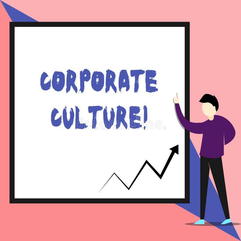 Sinal do texto que mostra a cultura empresarial As opiniões e as ideias conceptuais da foto que uma empresa tenha valores compart ilustração stock